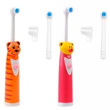 Cepillo de Dientes eléctrico para Niños de Dibujos Animados Cepillo de Dientes Oral Higiene Cepillo de Dientes Cepillo de Dientes Del Bebé Eléctrico de Masaje de Rotación