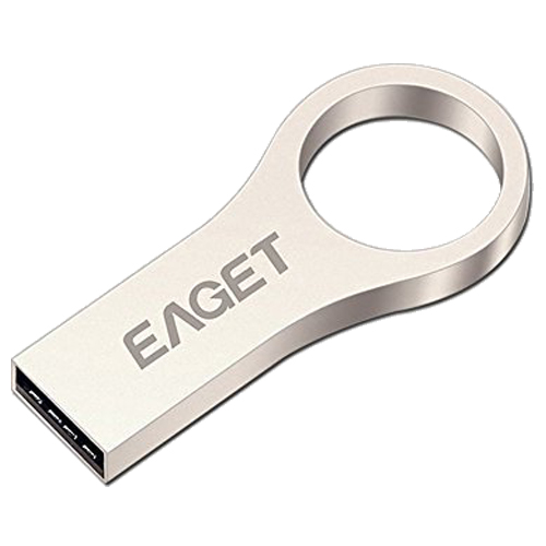 Eaget U9 Capless USB Flash Drive,Integrated All-Metal Key Ring Sealed Design,Water Resistant,Shock Resistant,Compact