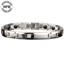 Серебряные металлические бусины noproblems 043, энергетический женский Магнитный турмалиновый германиевый браслет против усталости