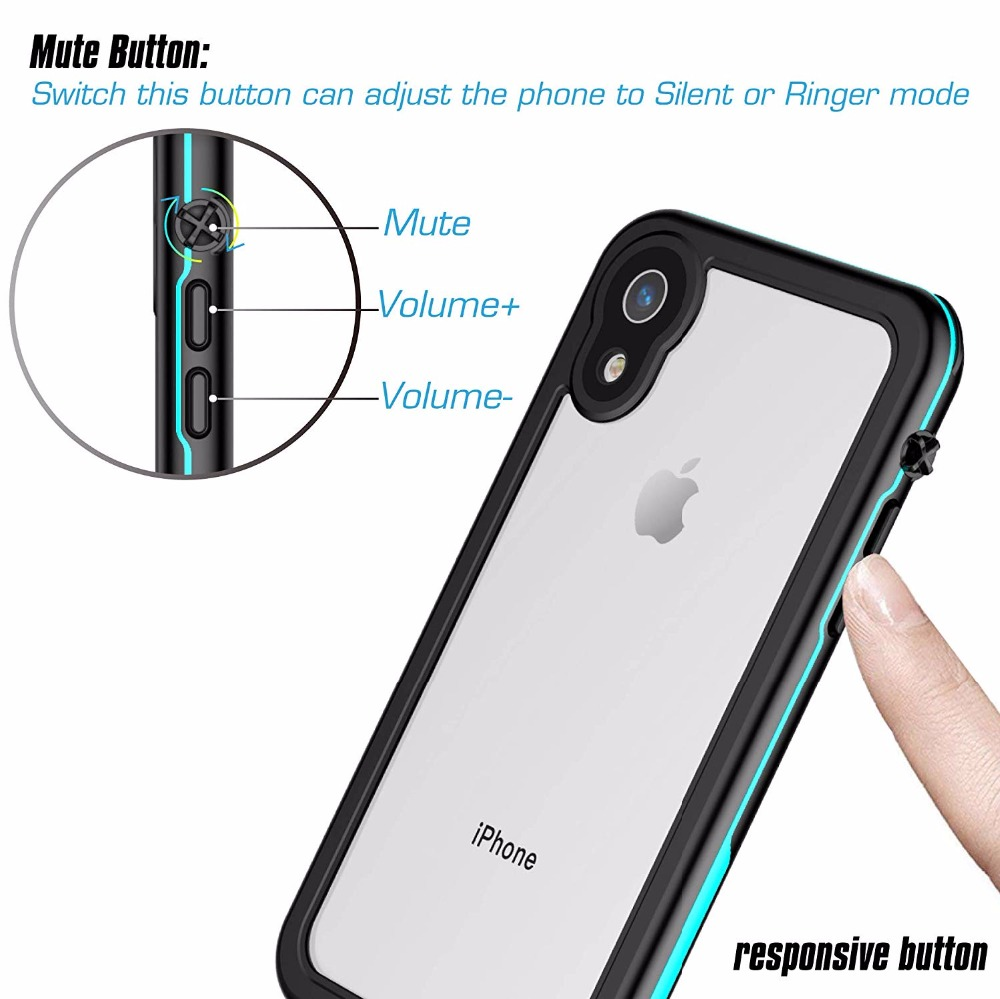 For iPhone XR Waterproof case life water Shock Dirt Snow Proof Protection for iPhone Xr 6 1 quot case With Touch ID Case Cover in Fitted Cases from Cellphones amp Telecommunications