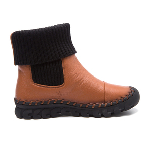 Image 3 - جديد 2020 النساء الشتاء حذاء من الجلد اليدوية المخملية شقة مع الأحذية حذاء مريحة عادية حقيقية أحذية من الجلد النساء الثلوج الأحذية