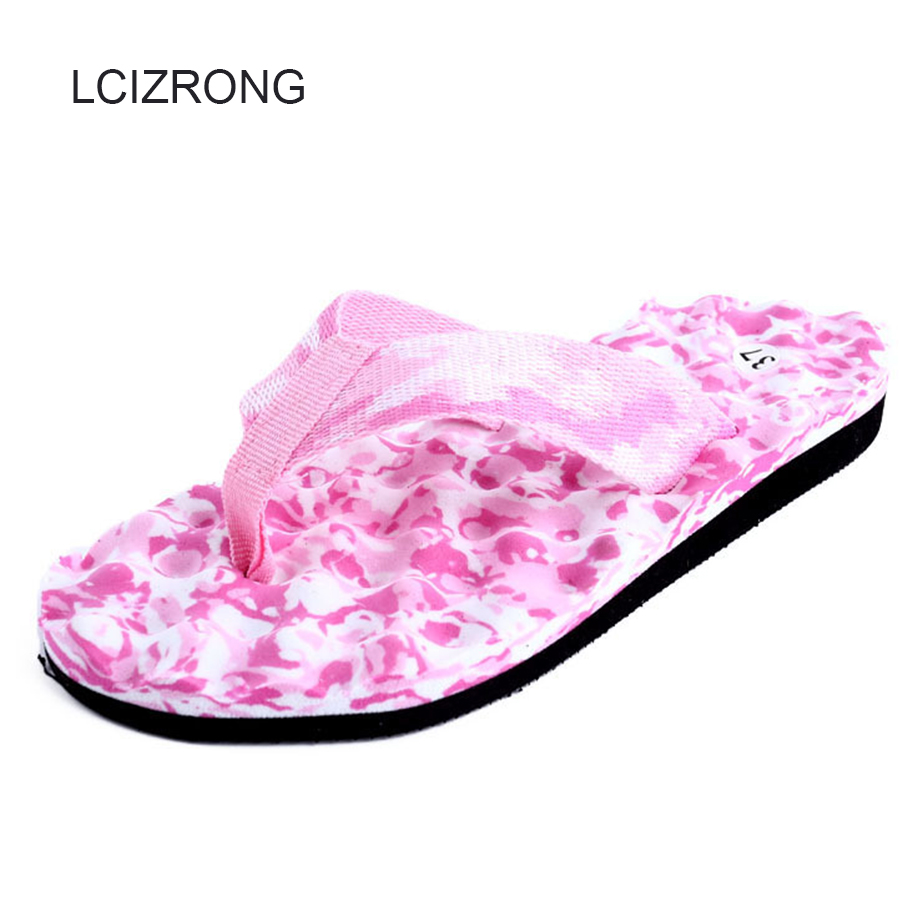 LCIZRONG 6 Colors Camouflage Flip Flops Women 36-45 Big Size Massage Flat Slippers Beach Non-slip Soft Unisex Slippers Female lcizrong cartoon cat cute women flip flops house non slip ladies flat slippers beach fashion breathable creativity slippers home