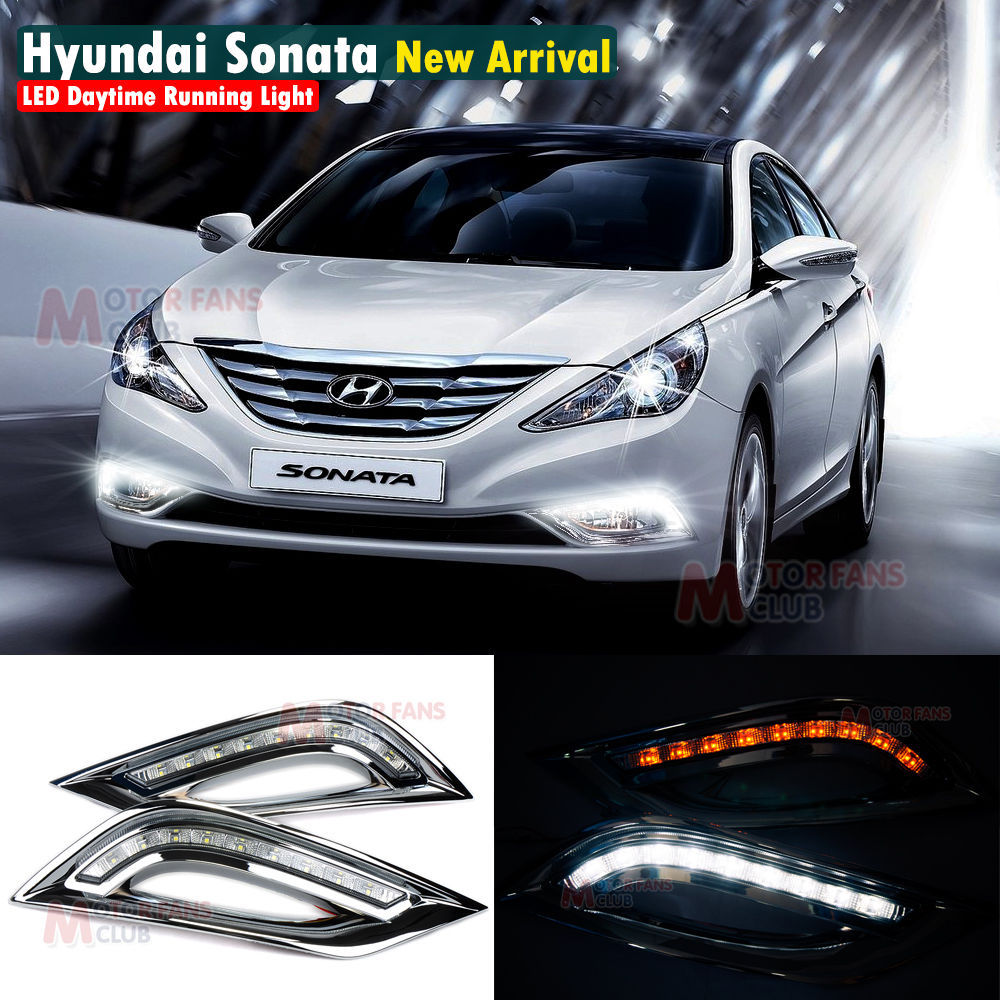 Led daytime running light for hyundai sonata i45 car fog drl 2011 2012 2013 2014