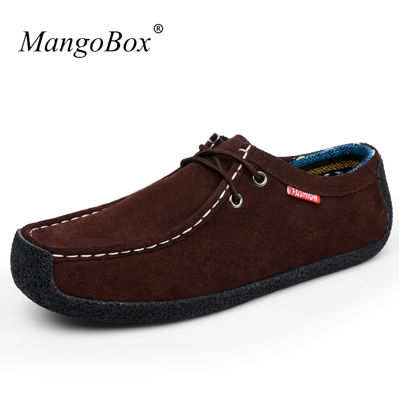Mens Handmade Luxurious Flats Boat Shoes Middle-aged Casual Men Shoes - Men's Shoes