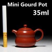 New Design 35ml Mini Tea Pot Yixing Zhisha Teapots Small Porcelain Tea Set Chinese Authentic Handmade