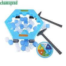 HOT Save Penguin Ice Kids Puzzle Game Break Ice Hammer Trap Party Toy M3203