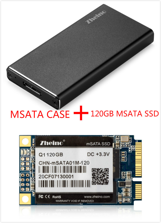 Zheino P3 120GB SSD USB3.0 External Aluminum Case Super Speed with mSATA Solid State Drive for Hlaf mSATA and mSATA SSD original eaget s606 certified ssd 120gb 2 5inch sata3 0 interface ssd to usb 3 0 unique internal solid state disk high speed ssd