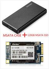 Zheino P3 120 GB SSD USB3.0 Zewnętrzna Aluminiowa Obudowa Super Speed z mSATA Ssd mSATA Dysk dla Hlaf i mSATA SSD