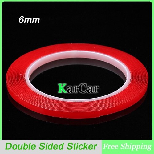 3m x 6mm silicone double sided tape sticker car interior accessories high strength double sided. Black Bedroom Furniture Sets. Home Design Ideas