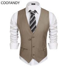 Vest Casual color Work Men Pocket V-Neck neck Slim Suit sleeveless Solid Sleeveless solid Casual and Button V Waistcoat