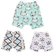 Cute Baby Kids Boys Girls Print Summer Shorts Bottoms Hot Pants Shorts Casual Fox panda striped