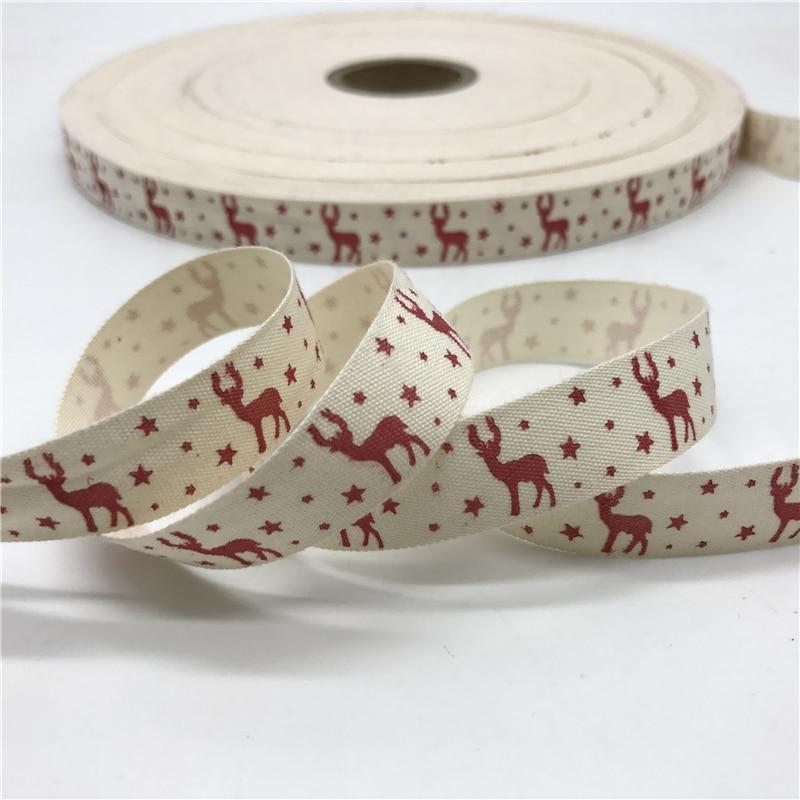 HTB1lk6mCN1YBuNjy1zcq6zNcXXa4 5 Yards/lot 15mm Cotton Ribbon Handmade Design Printed Cotton Ribbons For Wedding Christmas Decoration DIY Sewing Fabric