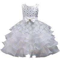 Summer Flower Girl Dress Top Grade 3 10 Yrs Princess Dresses For Girls Wedding Embroidered Formal