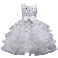 Summer Flower Girl Dress Top Grade 3 10 Yrs Princess Dresses For Girls Wedding Embroidered Formal