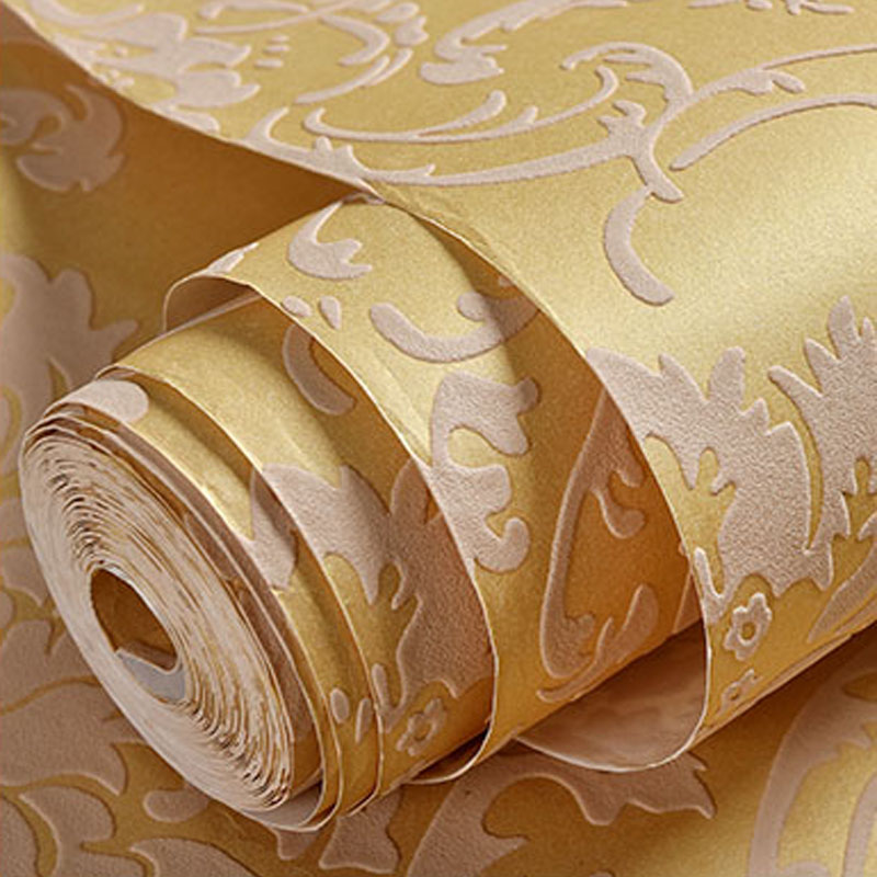 High Quality European Style Damask Non-woven Wallpaper Papel De Parede Sala 3D Living Room Bedroom Background Home Decor Paper photo wallpaper 3d stereo bookshelf mural living room study library backdrop wall home decor non woven papel de parede 3d sala
