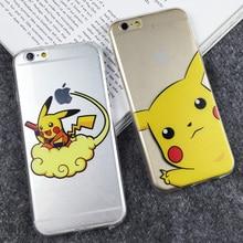 Animal bonito Dos Desenhos Animados Pocket Monsters Pokemons Ultra Slim Claro Macio TPU Telefone casos capa para iphone 5 5g 5S se 6 6g 6 s 6 mais 5.5