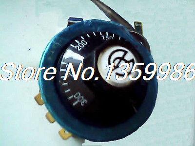 NO/NC 220V 300 Celsius 3-Pin Thermostat Temperature Switch Knob Controller Probe 250v 16a 3 pin terminals temperature control switch capillary thermostat 250v