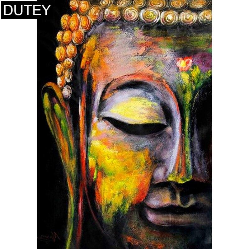 DIY DIY 5D Full Diamond Painting Buddha Embroidery Cross Stitch Home Decor