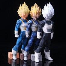 Figura de ação dragon ball z vegeta, drama de 33cm, versão super saiyan, vegeta comics goku, luta dbz modelo de coleção