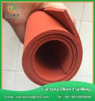 TOP Quality Silicone Foam Sheet 2mm Red Silicone Sponge Sheet Size 500x500x2mm Heat Transfer Rubber Matt