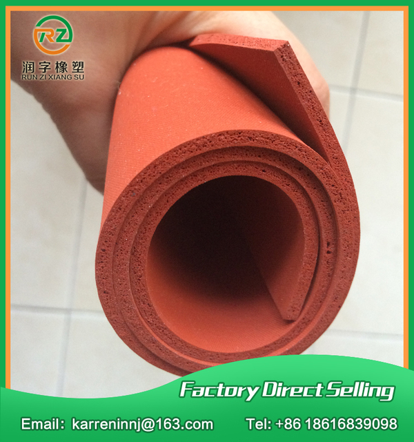 TOP quality silicone foam sheet 2mm Red silicone sponge sheet size 500x500x2mm heat transfer rubber matt