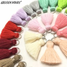 assoonas L46 jewelry findings jewelry accessories accessory parts tassels for jewelry diy cotton tassel jewelry supplies cheap CN(Origin) 0 5cm