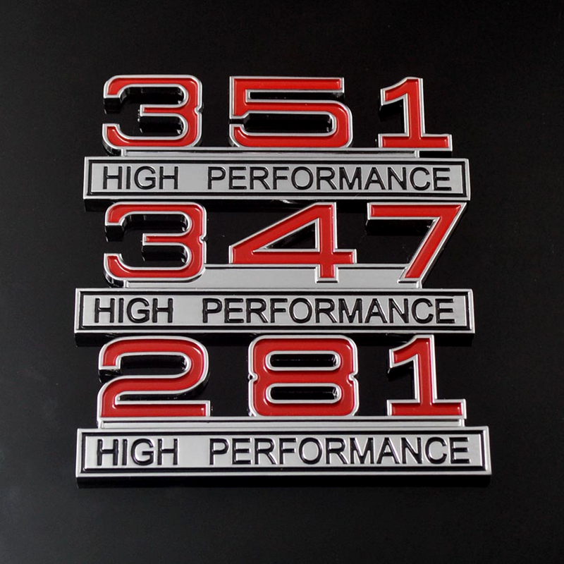 Emblem 281 High Performance with Black Numbers 4/""