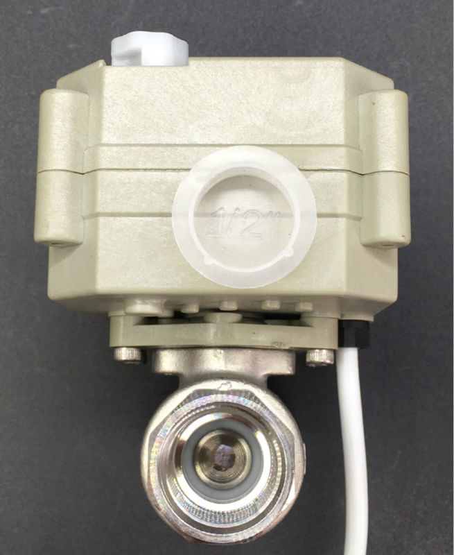 TF15-S2-B Stainelss Steel DN15 Motorized Ball Valve With Manual Wheel BSP/NPT 1/2'' DC12V or DC24V 2/3/5/7 Wires Metal Gear CE