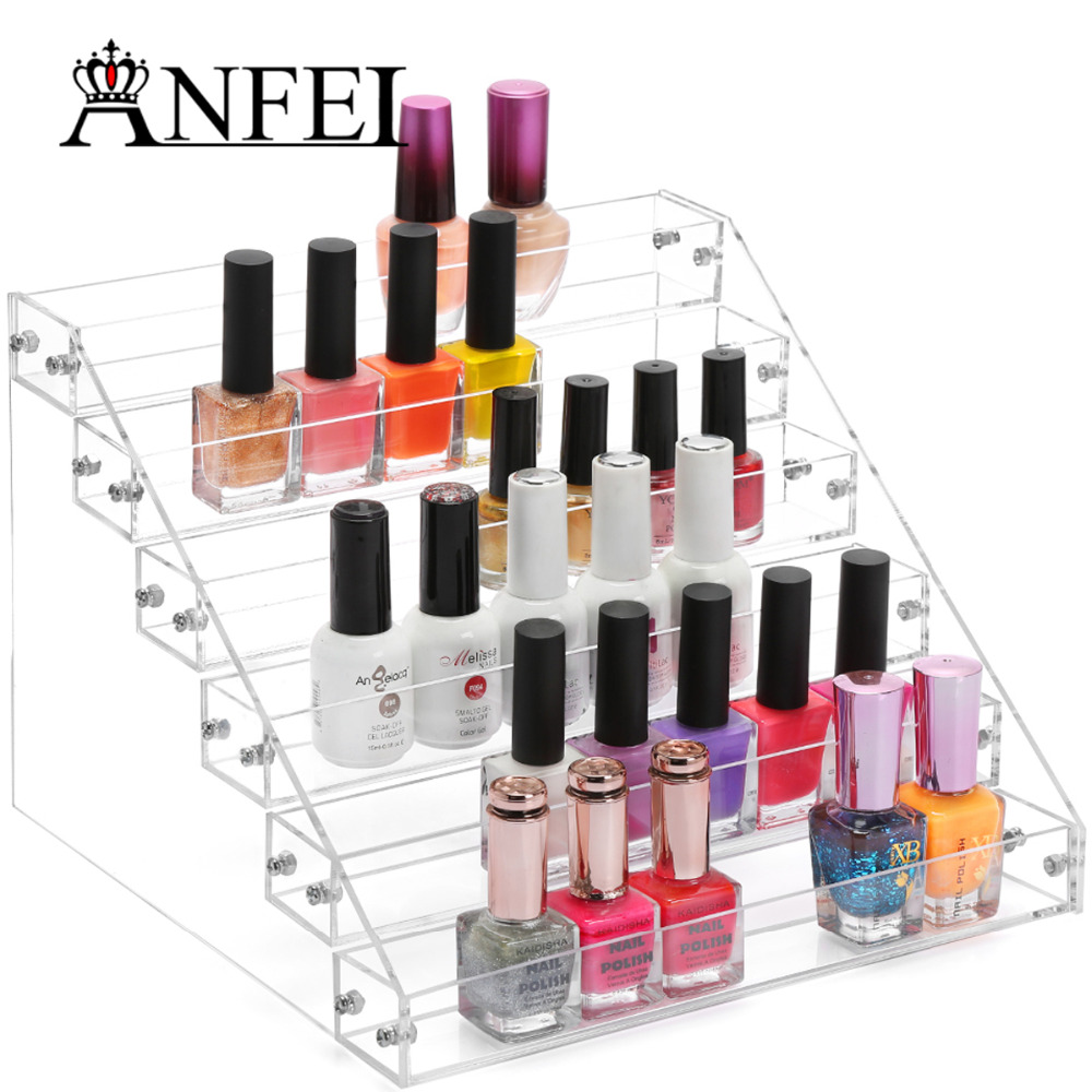 ANFEI 6 Tiers Acryl Nagellack Display Stand Rack Kosmetische Make ...