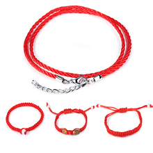 Classic Simple Red Rope Knot Bracelets for Women Men Adjustable Hand Jewelry Gift DropShipping