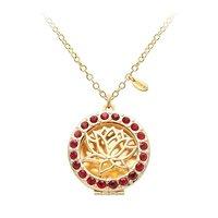 Красный Кристалл Цветок Лотоса Открываться Круглый Коробка Медальон Ожерелье Эфирное Масло Ароматерапия Диффузор Ожерелье для Женщин