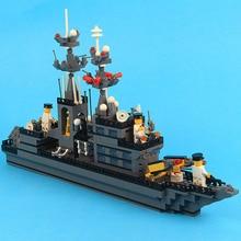 Puzzle 577PCS/set Warship Building Blocks DIY Toy Assembly for Kids Assembling Plastic Ship Model Kit Best Birthday Gift