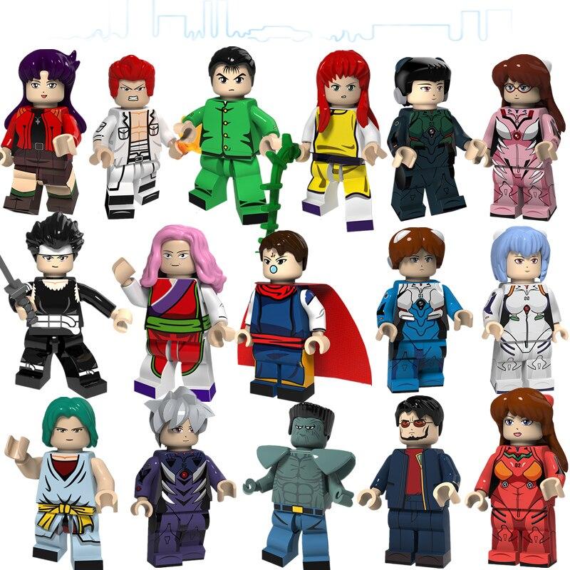 Custom  lego minifigure 8pcs YuYu-Hakusho Urameshi-Yuusuke-Kuwabara-Kazuma