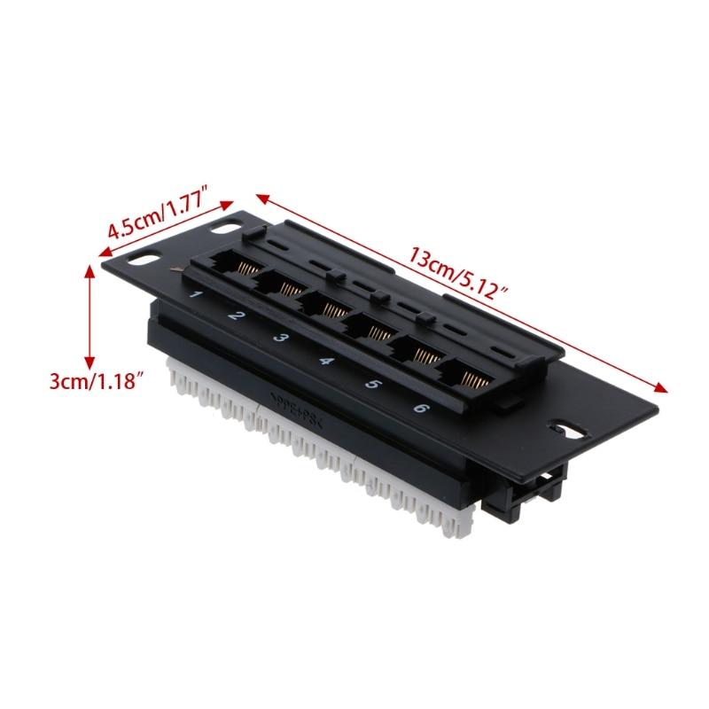 Сетевой набор инструментов 6 портов CAT5 CAT5E Патч-панель RJ45 сетевой настенный кронштейн