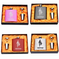 1 Set Personalized Engraved 6oz Stainless Steel Hip Flask Gift For Best Friend Best Daddy Best