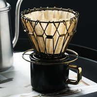 Goutteur de café DROHOEY pliable filtre à café intelligent V60 Style café filtre à goutte tasse Portable réutilisable sans papier verser sur