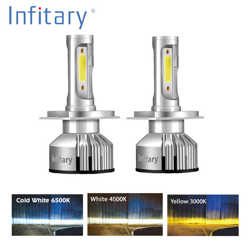 Infitary H7 LED H4 H1 H11 H3 H13 9005 HB3 9006 HB4 9004 9007 Car Light 72W 10000LM 12V 24V 3000K 4500K 6500K Auto Headlight