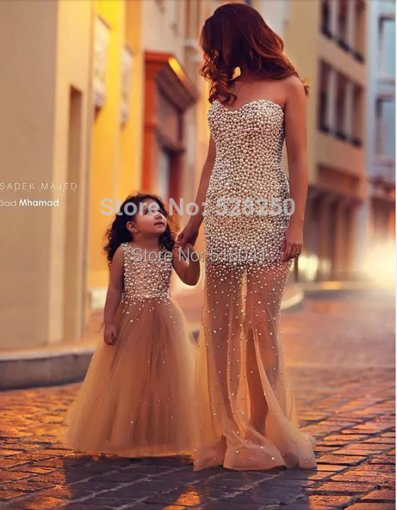RED 1.1 a line sweetheart sleeveless beading matching mother and daughter  family fitted evening party dress mom and me 33b67857ca