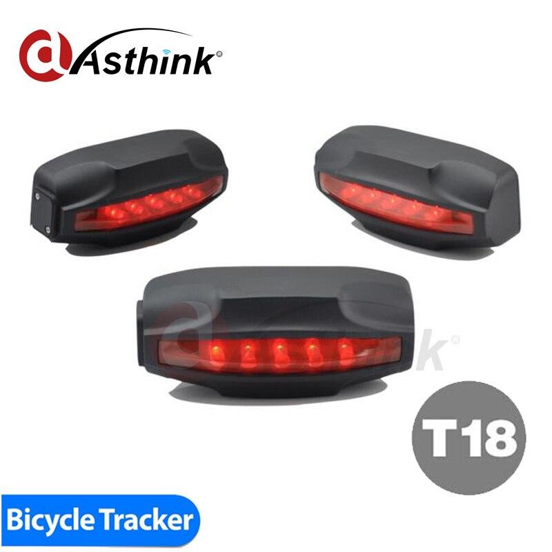 T18 Tail Lamp Easy Locator Bike GPS Tracker Bicycle Alarm System Waterproof 2000mAh Battery Free