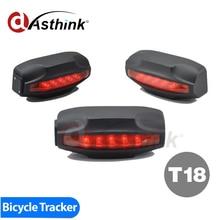 T18 Lámpara De Cola Fácil Localizador GPS Moto Perseguidor Del Sistema de Alarma de La Bicicleta A Prueba de agua 2000 mAh Batería Libre de Software de Seguimiento
