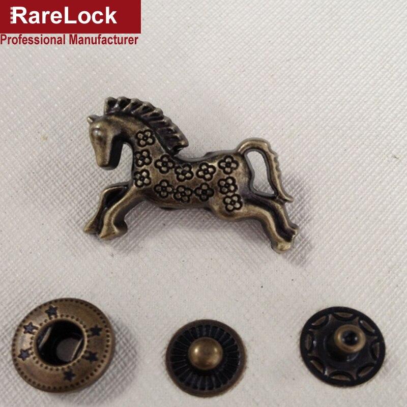Rarelock Flying Horse DIY Handbag,Cloth,Crafts Accessories Vintage Bronze Color Zinc Alloy Snap Button Hardware