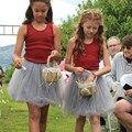 2017 de primavera y verano hermoso peluche de suave tul tutú de la falda pettiskirt 8 colores niñas faldas 1-10Y niños para todos estaciones