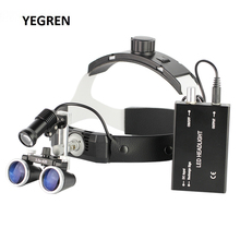 Illuminated Helmet Dental Loupes with LED Headlight Binocular Magnifier f/ Medical Surgical Cosmetic Plastic Surgery