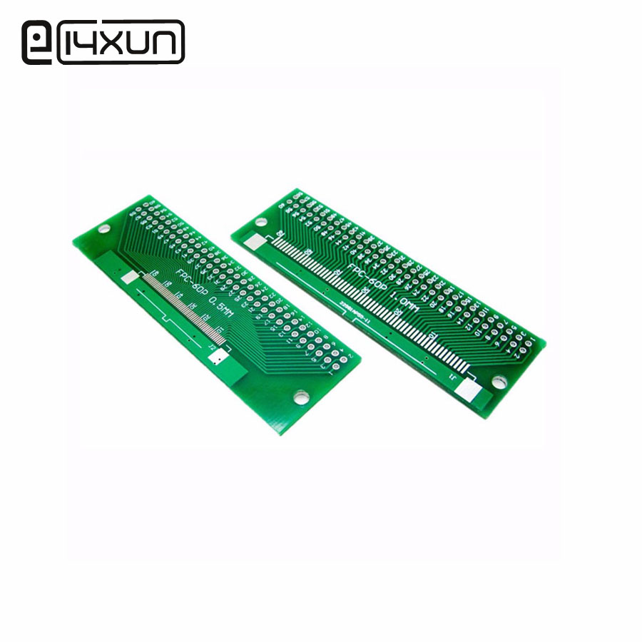 1pcs 60P FFC FPC Adapter Plate 0.5MM / 1.0MM Pitch to 2.54mm <font><b>60Pin</b></font> Flat Cable Socket Adaptor <font><b>Connector</b></font> for PCB Board TFT LCD image