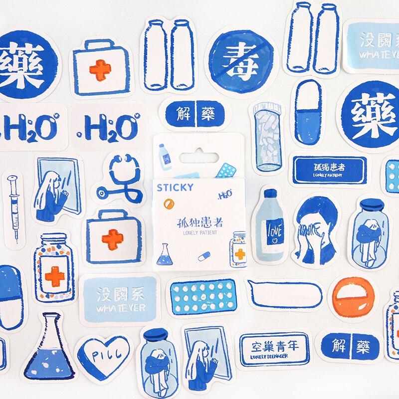 Серия Mohamm Girl, милые наклейки Kawaii в коробке, планировщик для скрапбукинга, канцелярские товары, японский дневник, наклейки - Цвет: B