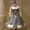 Fairy princesa lolita dress estilo chino de la vendimia floral impreso media manga op lolita dress