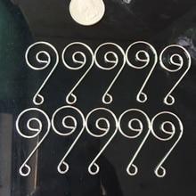 20 штук Серебряная Люстра части лампы кристаллические призмы бусины разъем металлический Улитка крюк DIY