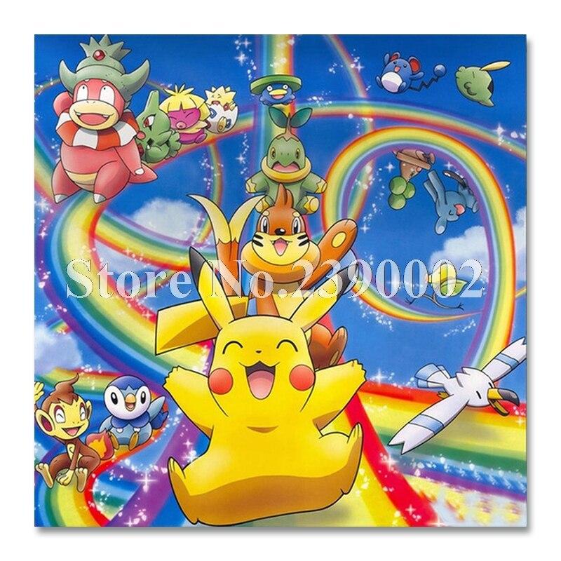 Wall Art Pokemon Diamond Embroidery DIY Diamond Painting Cross Stitch Kit cartoon 5D Full Square Diamond Mosaic Home Decor