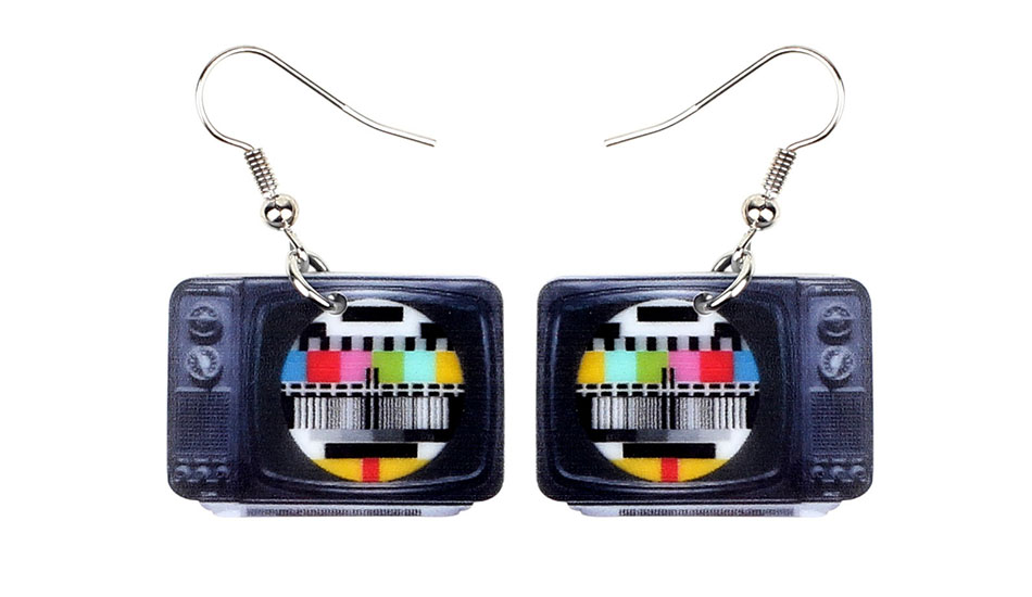 WEVENI Statement Acrylic Classical Television Earrings Drop Dangle Big Long Fashion Jewelry For Women Girls Gift Accessories 3