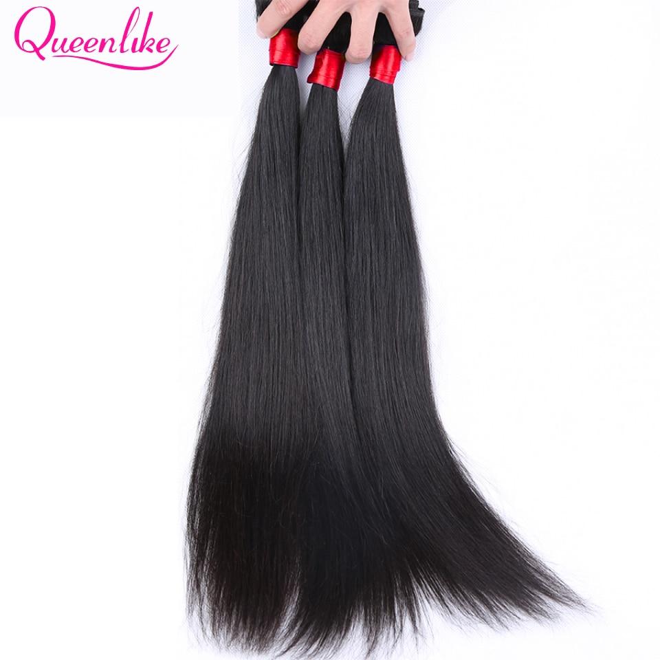 Queen Like Hair Products 1 Bundle / Piece 100% Human Hair Weave Non - Mänskligt hår (svart) - Foto 3
